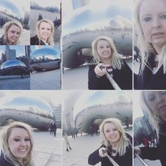 I definitely was not the only one attempting multiple selfie situations ... Even with my {ever present} selfie stick I just couldn't get it all in one shot.  I'm sure there's some very intrinsically artistic message  lesson to be had ... like #enjoythedamnart and/or #getoffyourphone  Oh well!  #bean #giantbean #millenniumpark #chicago