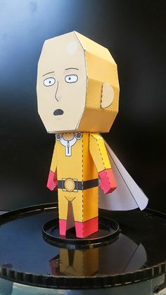 One-Punch Man - Saitama Paper Toy - by Tonchat Jaizue Saitama, One Punch Man, Paper Toys, Paper Crafts, Anime Crafts, Funny Gags, Printable Crafts, Paper Models, Origami Paper