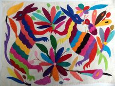 Otomi is pretty but can be a bit pricey. Here are ways to get affordable Otomi style.  Otomi Lumbar Pillow via CasaOtomiMulti-Color Embroidered Otomi from Etsy Seller ILoveOaxaca