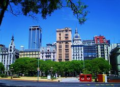 Av. Leandro N. Alem, Plaza. del Correo Central. / Buenos Aires Central Postal is in Avenue Leandro N. Alem in Buenos Aires City Center.