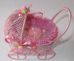 Lembrancinha mini carrinho de bebê