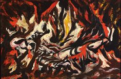 """""""The Flame,"""" Jackson Pollock (American, 1912-1956), Oil on canvas, 20 1/2 x 30 in., ca. 1938"""