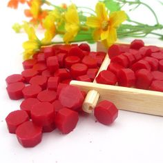 100 Piece Colorful Wax Pack Stamp Size