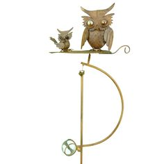 Gifts, Garden Gifts, Garden Decor, Outdoor Decor, Owl Spinner Garden Stake,  $44.99, This Guy Is Fun.! He Would Be So Fun To Have In Your Garden.