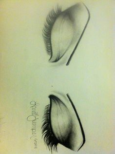 Pencil drawing, eyes, remake - Lanai Jumper