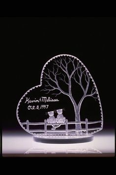 Wedding Cake Toppers/Gift Cats In Heart FREE engraving and shipping