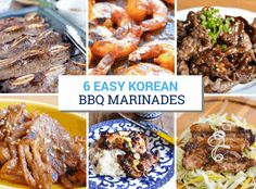 6 Easy Korean BBQ Marinades for Every Palate 6 Easy Korean BBQ Marinades for beef Bulgogi, Kalbi, chicken, pork and shrimp. There are both spicy and non-spicy recipes but all are delicious! Honey Recipes, Spicy Recipes, Asian Recipes, Beef Recipes, Best Korean Bbq, Korean Beef, Korean Food, Korean Bbq Marinade, Beef Marinade