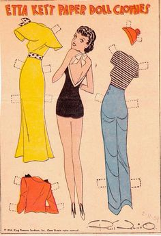 Etta Kett Paper Doll Clothes, Feb. 1934