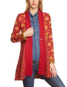 LANA natural wear Damen Strickjacke Jacke Jolina lang: Amazon.de: Bekleidung 187,90 gleiche Muster wie Strickkleid in scarlet-red clay-peridot