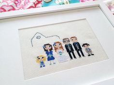 Large Custom Cross Stitch Wedding Portrait in Pixel Art Style (Framed) Large Wedding Custom Pixel Cross Stitch Portrait by ScarletPyjamas Wedding Outfits For Family Members, Expensive Gifts, Gifts For Photographers, Coffee Lover Gifts, How To Make Tea, Parent Gifts, Unusual Gifts, Wedding Portraits, Cross Stitch Embroidery