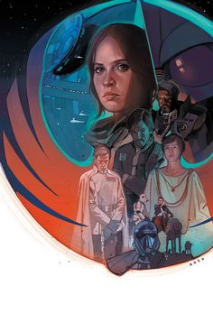 Star Wars: Rogue One Illustrations - Created by Phil Noto