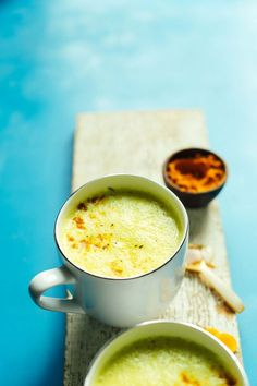 CREAMY Golden Milk in 5 minutes! Anti-inflammatory, healthy digestion, SO delicious! #vegan #glutenfree #healthy #goldenmilk #minimalistbaker