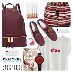 """Untitled #822"" by stacey-lynne on Polyvore featuring Michael Kors, Madewell, Topshop, Keds, Casetify and Bobbi Brown Cosmetics"