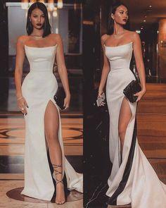 Special Strapless Long Prom Dresses,Split Evening Dresses from PROMFAST de bal longues Cute Prom Dresses, Prom Outfits, Mode Outfits, Ball Dresses, Pretty Dresses, Beautiful Dresses, Ball Gowns, Wedding Dresses, Sexy Dresses