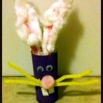 Easy Crafts for Kids: Toilet Paper Roll Bunny. Kids can create a cute Easter decoration with just a few supplies you have at home.