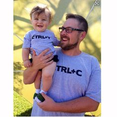 """Father & Me Matching T-shirt Print """" Ctrl C + Ctrl V """" Pattern Father and Son Outfit"""