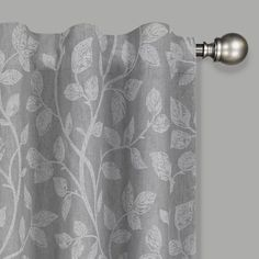 Add a fashionable touch to your living space with Eclipse's Nora Window Curtain Panel. Beautifully designed with a botanical pattern, this polyester panel features an Absolute Zero blackout thermal liner for added privacy and noise reduction. Blackout Panels, Blackout Windows, Blackout Curtains, Drapes Curtains, Light Blocking Curtains, All Of The Lights, Absolute Zero, Room Essentials, Window Panels