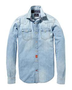 Slim fit core western shirt   Shirt l/s   Mannenkleding bij Scotch & Soda