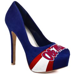 HERSTAR™ Women's Ole Miss High Heel Microsuede Pumps (BLUE, COLLEGE, Collegiate apparel, MISSISSIPPI, NCAA, OLE MISS, RED, RED AND BLUE, RED WHITE BLUE, TEAM COLOR PUMPS, UNIVERSITY OF MISSISSIPPI, WHITE) | NCAA Shoes | HERSTAR