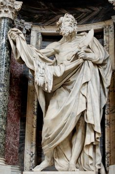 "by Pierre Le Gros ___"" St. Bartholomew"" (c. 1705-12) in the Archbasilica of St…"