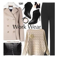 Yoins Work Wear by beebeely-look on Polyvore featuring T By Alexander Wang, MAC Cosmetics, Parker, WorkWear, Sweater, coat, officestyle and yoinscollection
