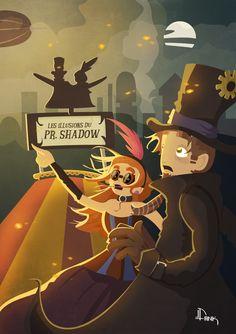 """Shadow"" by Dank #art #illustration #steampunk"