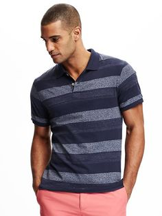 Striped Jersey Polo for Men
