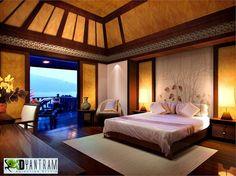 residential 3d interior design classic hotel bedroom mexico