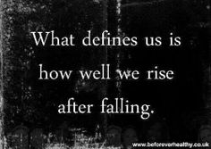 What defines us...