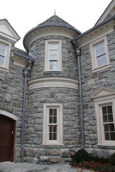 Estates at Alpine, Stone Mega Mansion, Alpine Stone Home, NJ Stone Mansions - Legacy Stoneworks Portfolio Mega Mansions, Luxury Mansions, Stone Mansion, Stone Houses, Grey Stone, Decoration, House Design, Exterior, House Styles