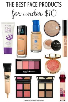 Best Face Makeup UNDER $10 // Affordable Makeup Products // Cheap & GOOD Makeup   beautywithlily.com