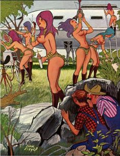 DINK SIEGEL - This is nothing--wait till you see the women! - Playboy Playboy Cartoons, Adult Cartoons, Party Jokes, Pin Up, Metal Picture Frames, Bristol Board, Dragon Slayer, American Comics, Cartoons