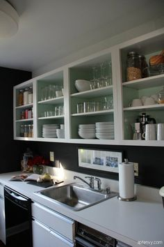 Design Evolution: See One Kitchen's Style Change Over Three Years -- Black walls!