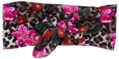 LIQUORBRAND LEO CHERRIES BLOSSOM HAIR BAND $12.00 #liquorbrand #bandana #hairaccessories #leopard #cherries