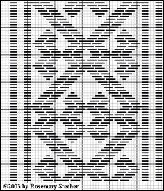 Chart for pattern darning Blackwork Embroidery, Types Of Embroidery, Embroidery Stitches, Embroidery Patterns, Hand Embroidery, Needlepoint Stitches, Needlework, Designer Knitting Patterns, Bargello Patterns