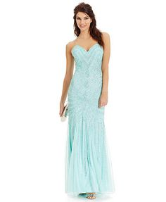 Joanna Chen Beaded Sweetheart Gown #Macys #JoannaChenNY