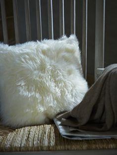 NEW Icelandic Sheepskin Cushion - NEW