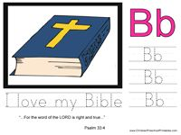 Free Christian Preschool Printables. Bible ABC Printables & Crafts