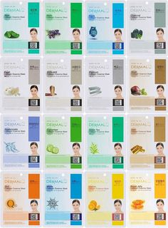 Amazon.com : Dermal Korea Collagen Essence Full Face Facial Mask Sheet, 16 Combo Pack : Beauty