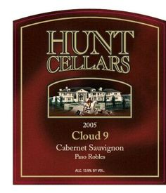 2005 Hunt Cellars 'Cloud 9' Cabernet Sauvignon, Paso Robles 750 mL *** Check out the image by visiting the link.