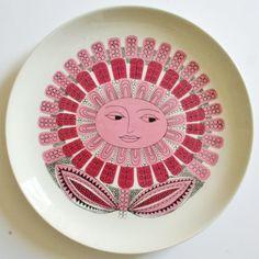 Child's Plate Vintage Arabia of Finland Pink Daisy Esteri Tomula Kaarina Aho | eBay