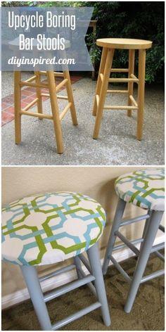 Trash to Treasure Upcycled Bar Stools & Painted stools with glaze brushed on #beautifulsalvage.....I so ... islam-shia.org