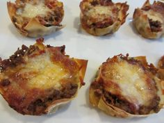 The Mandatory Mooch: Lasagna Cupcakes  They're not that unhealthy.  we can fix it!   lj
