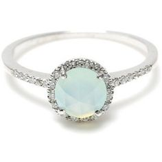 Mint opal engagement ring--this is totally more my speed than any diamond. Ring Set, Ring Verlobung, Hand Ring, Estilo Fashion, Look Fashion, Womens Fashion, Bling Bling, Yoga Armband, Opal Rings