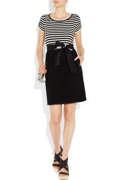 Striped cotton-blend dress $275 DKNY Net-a-Porter
