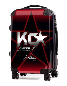 "Custom Cheer Luggage - KC Cheer  20"" Carry-On Luggage, $149.95 (http://www.cheerluggage.com/kc-cheer-20-carry-on-luggage/)"
