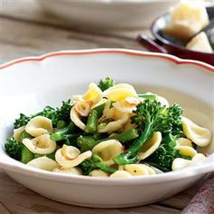 Tenderstem broccoli, chilli and pecorino pasta recipe.   Broccoli and pasta are a fantastically fresh combination, and this vegetarian recipe – based on a classic Italian dish – is a perfect weeknight meal for family and friends.