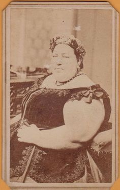 PT Barnum Fat Woman Madame Sherwood Circus Sideshow Freak Giant Lady CDV Photo