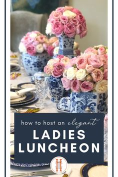 Are you considering planning a party? We make it easy for you to throw an elegant ladies luncheon birthday party (or really any party) with a party planner full of gorgeous pictures to use as inspiration, plus full menus, decorating ideas, and links to easily buy the items you love! It is a one-stop guide with plans for parties so you don't have to stress for a second longer about throwing a fabulous birthday, retirement, or anniversary party! Hadley Court Interior Design Blog. Ladies Luncheon, Fabulous Birthday, Elegant Flowers, Best Interior Design, Hadley, Tea Parties, Anniversary Parties, Elegant Woman, Home Decor Inspiration