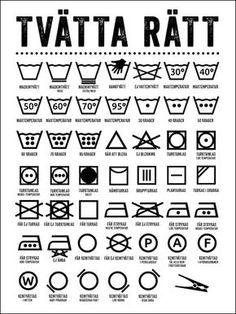 Poster Tvättråd vit